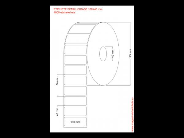 Etichete semilucioase 100x40mm 4000 etichete/rola