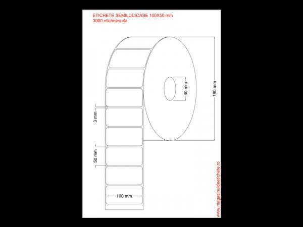 Etichete semilucioase 100x50mm 3000 etichete/rola