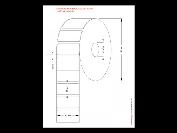 Etichete semilucioase 30x15mm 10000 etichete/rola