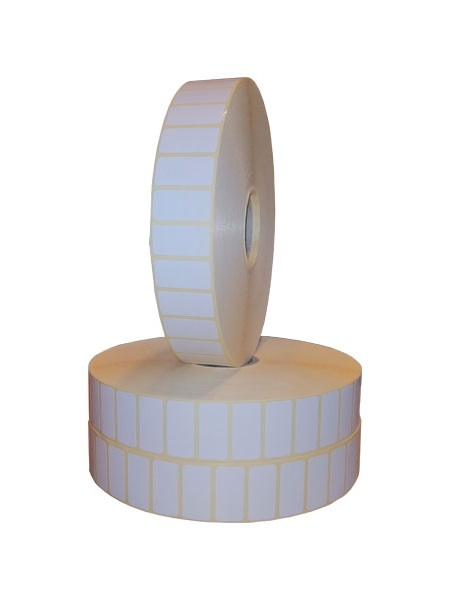 Role de etichete semilucioase autoadezive 30x15mm 10000 etichete in rola - 2 role