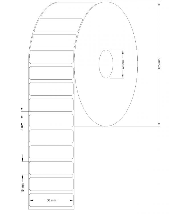 Etichete semilucioase 50x15mm 10000 etichete/rola