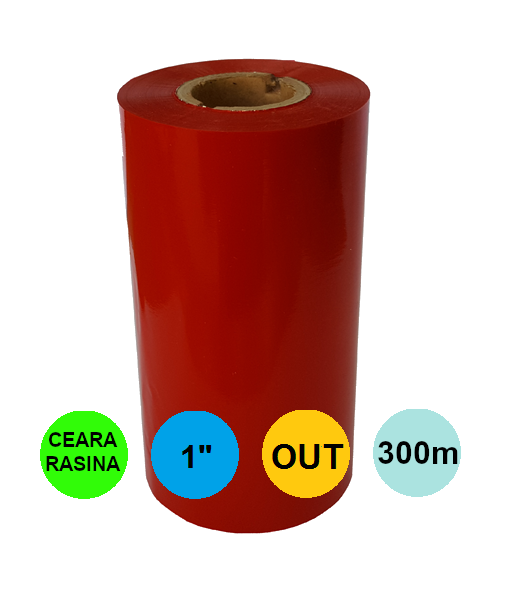 Ribon Rosu 40mm x 300m Out Ceara-Rasina 1 inch