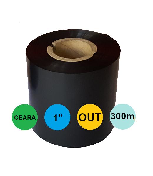 Ribon 110mm x 300m OUT Ceara Negru 1 inch