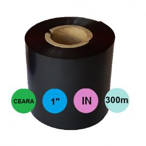 Ribon 60mm x 300m IN Ceara Negru 1 inch