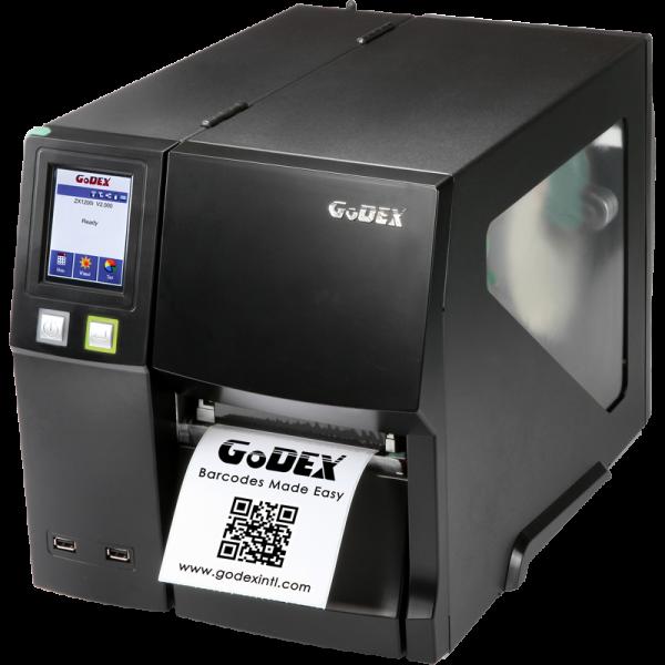 imprimanta industriala pentru etichete autocolate godex ZX-1200i - front