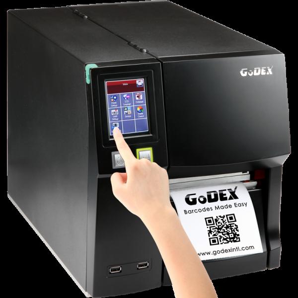 imprimanta industriala pentru etichete autocolate godex ZX-1200i - touch