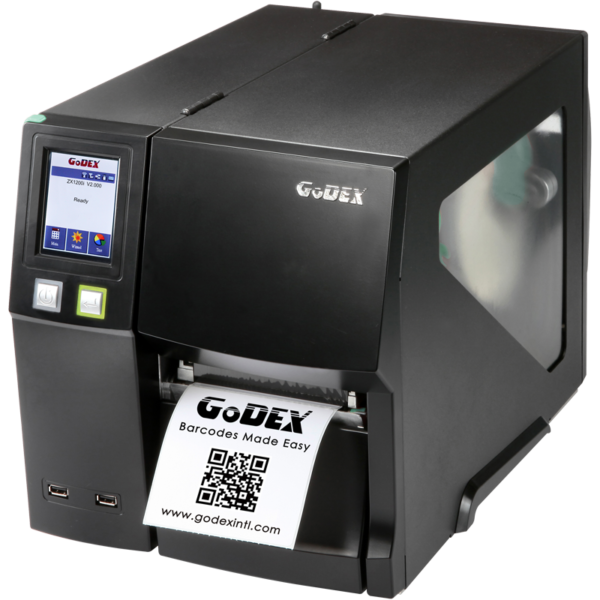 Imprimanta industriala pentru etichete autocolate GoDEX ZX1600i-front