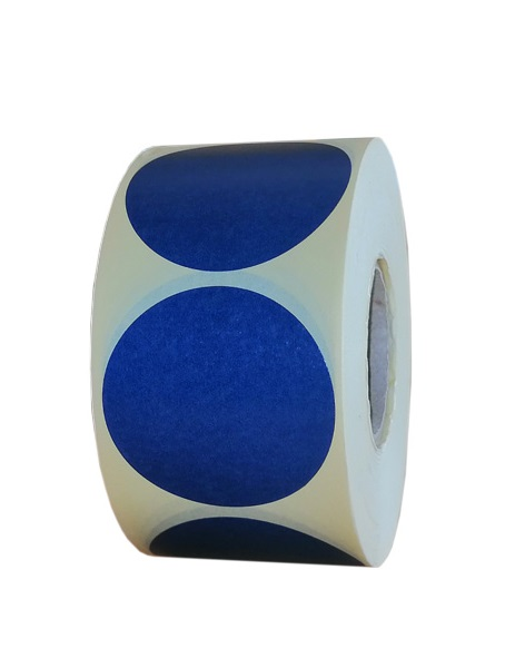 Role de etichete semilucioase rotunde albastru navy 50mm 1000 etichete rola - 1 rola