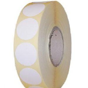 Role de etichete termice autoadezive rotunde diametru 25mm 2000 etichete - 1 rola
