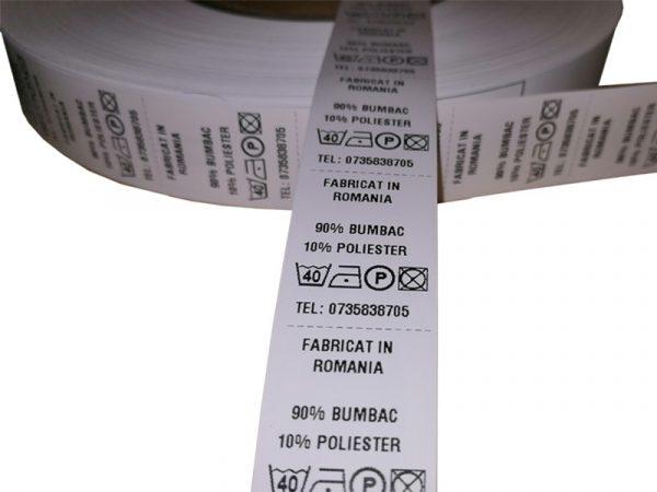 Role de etichete textile 25x25mm 1000 etichete - 1 rola orizontal