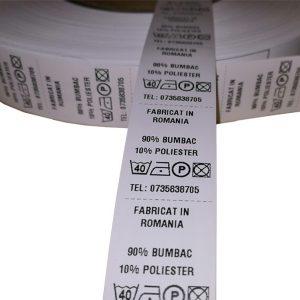 Role de etichete textile 25x55mm 1000 etichete - 1 rola orizontal