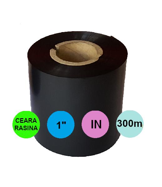 Ribon 110 mm x 300m IN Ceara-Rasina Negru 1 inch