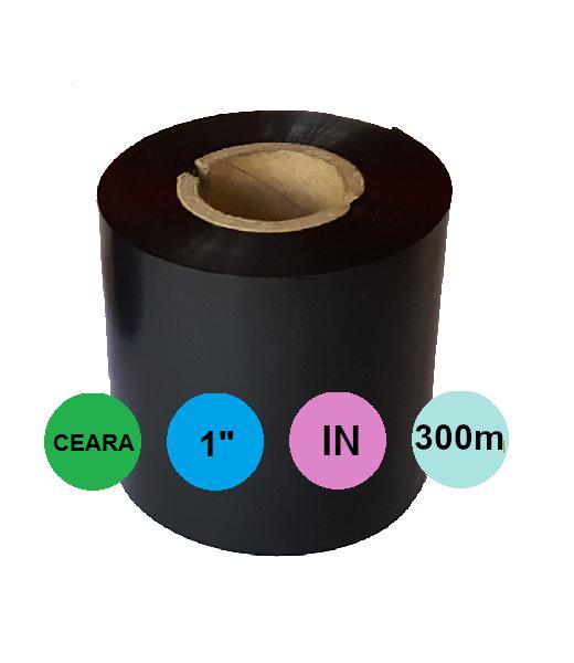Ribon 110mm x 300m IN Ceara Negru 1 inch