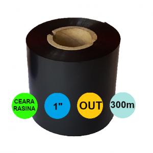Ribon 110mm x 300m OUT Ceara-RASINA Negru 1 inch