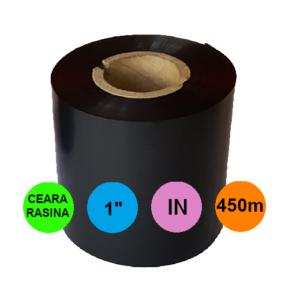 Ribon 110mm x 450m IN Ceara-RASINA Negru 1 inch