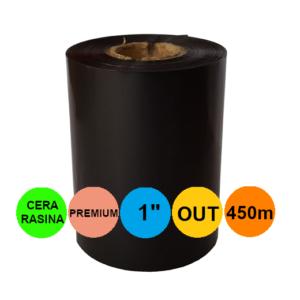 Ribon 110mm x 450m OUT Ceara-RASINA Premium Negru 1 inch