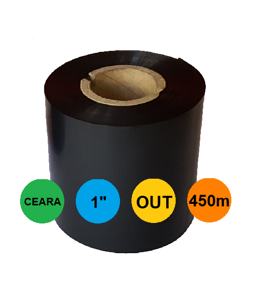Ribon 60mm x 450m OUT Ceara Negru 1 inch