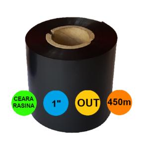 Ribon 60mm x 450m OUT Ceara-RASINA Negru 1 inch