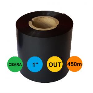 Ribon 70mm x 450m OUT Ceara Negru 1 inch