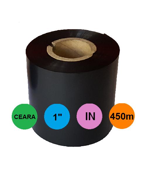 Ribon 83mm x 450m In Ceara Negru 1 inch