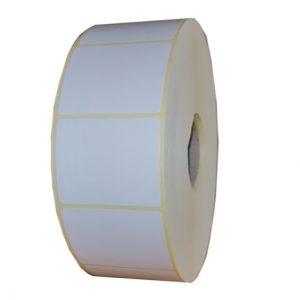 Role de etichete semilucioase autoadezive 40x40mm 3000 etichete in rola - 1 rola