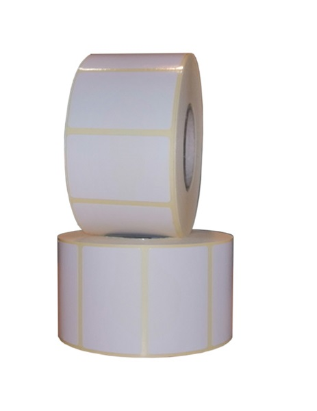 Role de etichete semilucioase autoadezive 50x32mm 1250 etichete rola - 2 role