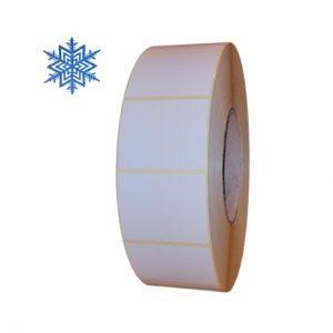 Role de etichete semilucioase pentru congelate albe 50x40mm 3000 etichete rola - 1 rola