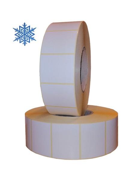 Role de etichete semilucioase pentru congelate albe 50x40mm 3000 etichete rola - 2 role
