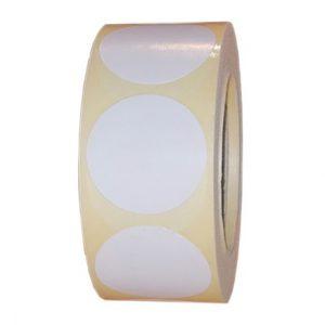 Role de etichete semilucioase rotunde albe 29mm 600 etichete rola - 1 rola