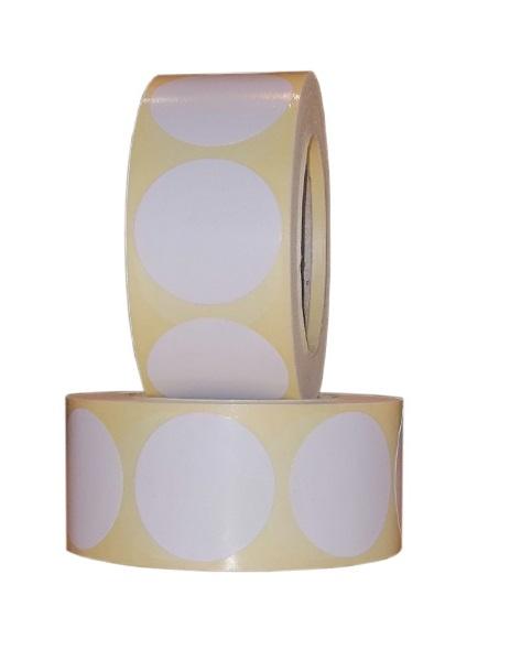 Role de etichete semilucioase rotunde albe 29mm 600 etichete rola - 2 role