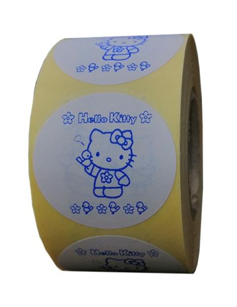 etichete rotunde albe cu text albastru 40mm pentru uz general