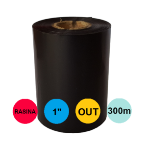 Ribon 60mm x 300m Out Rasina Negru 1 inch