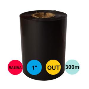 Ribon 80mm x 300m Out Rasina Premium Negru 1 inch