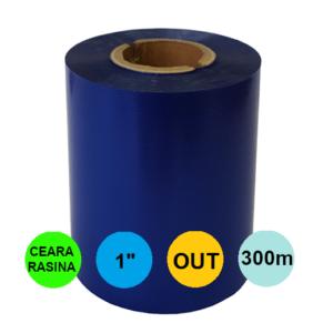 Ribon Albastru 40mm x 300m Out Ceara-Rasina 1 inch