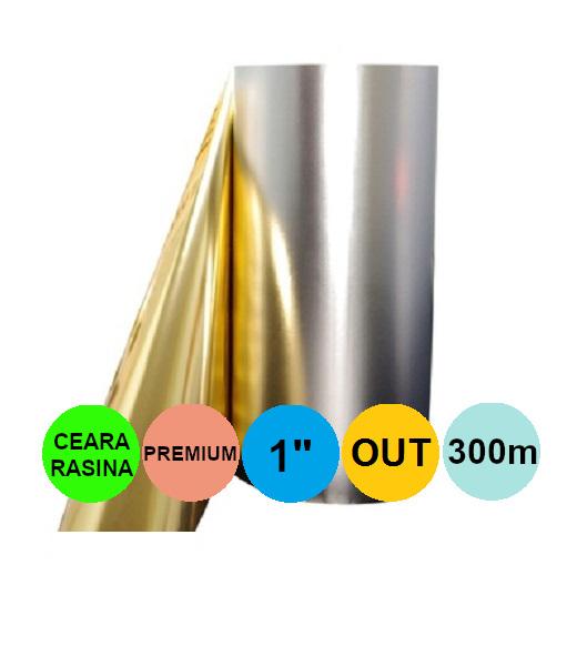 Ribon Auriu Metalic 40mm x 300m Out Ceara-Rasina Premium 1 inch