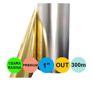 Ribon Auriu Metalic 55mm x 300m Out Ceara-Rasina Premium 1 inch