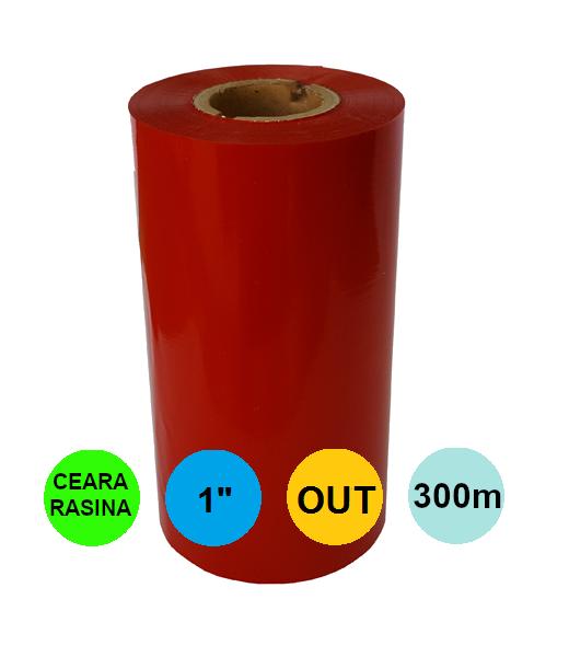 Ribon Rosu 80mm x 300m Out Ceara-Rasina 1 inch