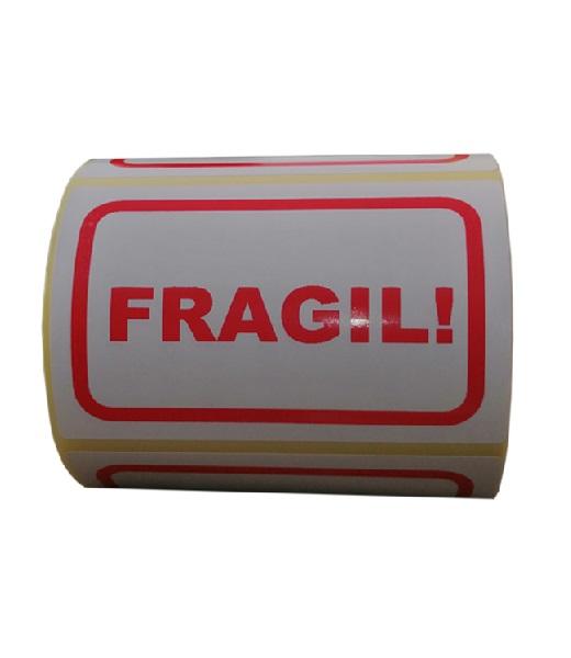 Role de etichete pentru colete fragile, 100x65mm, 1000 etichete in rola - o rola orizontala