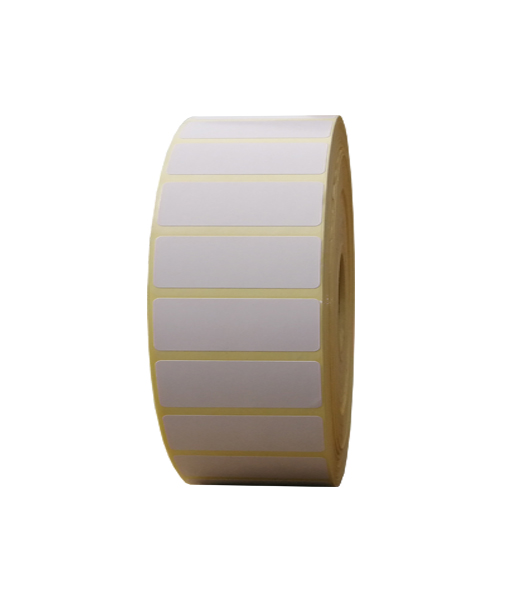 Role de etichete semilucioase autoadezive 50x20mm 7500 etichete rola - o rola