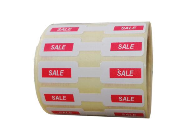 Role personalizate de etichete pentru bijuterii pentru promotii, 63x13mm, 1000 etichete rola - sale rola orizontala