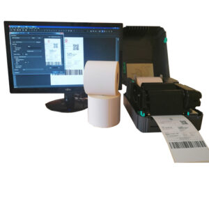 Sistem complet de etichetare AWB AVANTAJ - role de etichete semilucioase autoadezive 100x150 imprimanta TSC TTP-244 PRO BarTender - sistem deschis