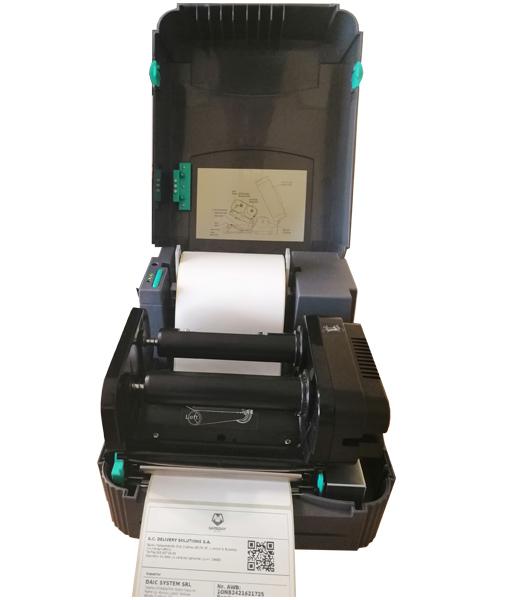 Sistem complet de etichetare AWB AVANTAJ - role de etichete termice 100x150 imprimanta TSC TTP-244 PRO - sistem deschis inchis