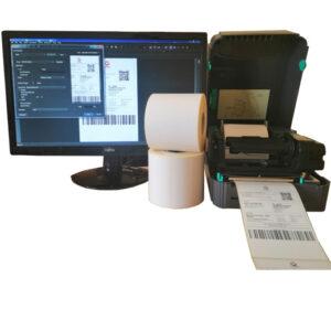 Sistem complet de etichetare AWB Start - role de etichete termice 100x150 imprimanta TSC TTP-244 PRO si BarTender - deschis
