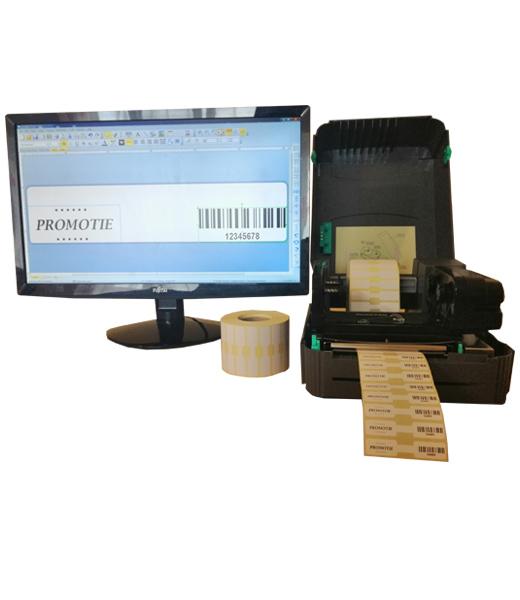 Sistem complet de etichetare bijuterii AVANTAJ - imprimanta TSC TTP-244 PRO Role de etichete bijuterii 63x13 Bartender - sistem deschis