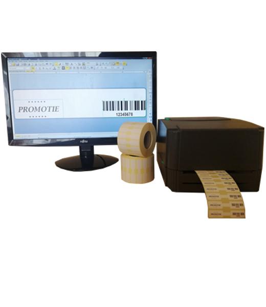 Sistem complet de etichetare bijuterii AVANTAJ - imprimanta TSC TTP-244 PRO Role de etichete bijuterii 63x13 Bartender - sistem inchis