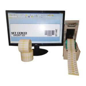 Sistem complet de etichetare bijuterii START - imprimanta TSC TTP-244 PRO Role de etichete bijuterii 50x13 Bartender - sistem deschis