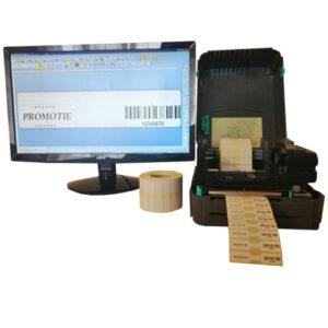 Sistem complet de etichetare ochelari AVANTAJ - imprimanta TSC TTP-244 PRO Role de etichete bijuterii 63x13 Bartender - sistem deschis